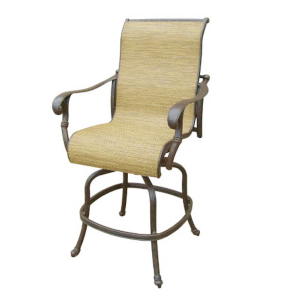 Summit Sling Swivel Bar Stool